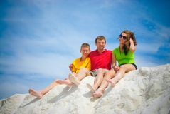 Father and teens Royalty Free Stock Photography