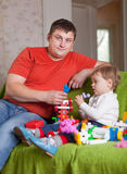 Father and  three-year child Stock Photo