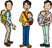 Father to hug the children Stock Images