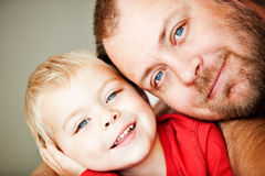 Father and toddler son Stock Photos