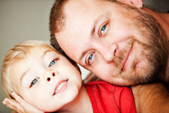Father and toddler son Royalty Free Stock Photos