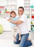 Father with toddler son Stock Image