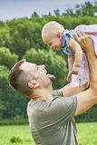 Father and toddler Stock Photography