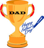 Father trophie gold Stock Photos