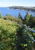 Father Troy's Trail near Torbay, NL Canada. Landscape along the Killick Coast; East Coast Father Troy's Trail near Torbay, Avalon Peninsula, NL stock image