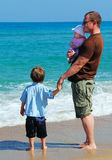 Father with two kids Royalty Free Stock Photos
