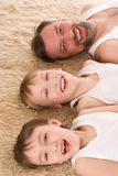 Father with two sons Stock Image