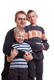 Father with two sons Royalty Free Stock Images