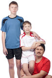Father and two sons in top form Stock Images