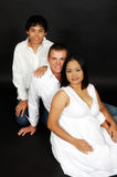 Father, pregnant mother and son  Stock Photography