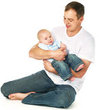 Father wiht his baby boy Royalty Free Stock Photography