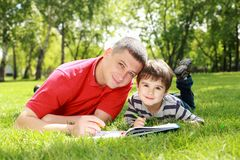 Father With His Son In The Park Stock Image