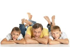 Father With Sons Stock Photos