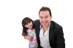 Father and young daughter Royalty Free Stock Photo
