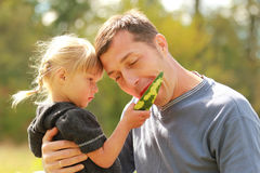 Father and young daughter Stock Image
