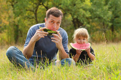 Father and young daughter Royalty Free Stock Images