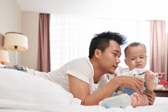 fatherhood stock afbeelding