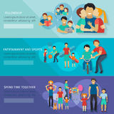Fatherhood Banner Set Stock Photography