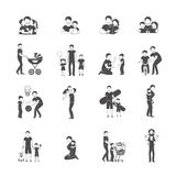 Fatherhood Icon Set Stock Photo