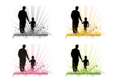 Fatherhood through the seasons Royalty Free Stock Image