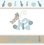 Fathers. Day greeting card, vector illustration Royalty Free Stock Photo