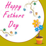 Fathers day. Illustration of fathers day greetings Royalty Free Stock Image
