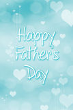 Fathers day Abstract Background. Heart Holiday illustration Stock Image