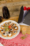 Fathers day appetizer Stock Photo