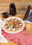 Fathers day appetizer Stock Photography
