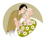 Fathers day Royalty Free Stock Images