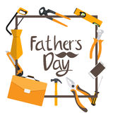 Fathers Day Background. Best Dad Vector Illustration. EPS10 Stock Images