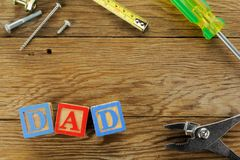 Fathers Day background Royalty Free Stock Photos