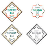 Fathers Day Badge Stock Photo