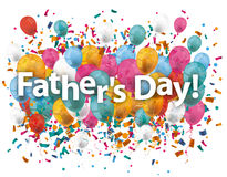 Fathers Day Balloons Confetti Royalty Free Stock Image