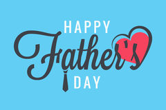 Fathers day banner family party Stock Photography