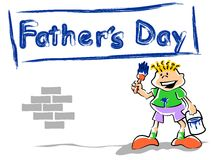 Fathers Day Boy Royalty Free Stock Photo