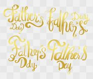 Fathers day Calligraphy with Abstract idea for Greeting Card ,. Father\'s day , festival poster Stock Illustration
