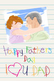 Fathers day card Stock Photos
