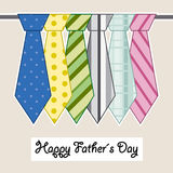 Fathers day card Stock Photo