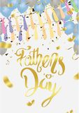 Fathers Day Card or background. vector illustration. Eps . 10 royalty free illustration