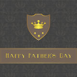 Fathers Day card, beige and brown Stock Images