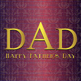 Fathers Day card, beige and maroon Royalty Free Stock Image