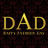 Fathers Day card, black  and red damask Royalty Free Stock Photography