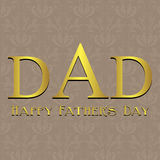 Fathers Day card, with blue, black and white strip Royalty Free Stock Photography