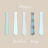 Fathers Day card , with blue ties. Royalty Free Stock Image