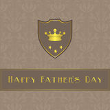 Fathers Day card,  brown and beige damask Stock Photography