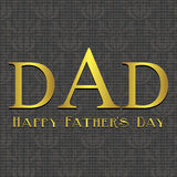 Fathers Day card, brown and beige Stock Photo