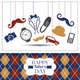Fathers day card with color cage. stock illustration