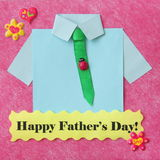 Fathers Day Card - Craft Background - Stock Photo Royalty Free Stock Photography