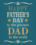 Fathers Day Card. Greeting card template for Fathers Day
